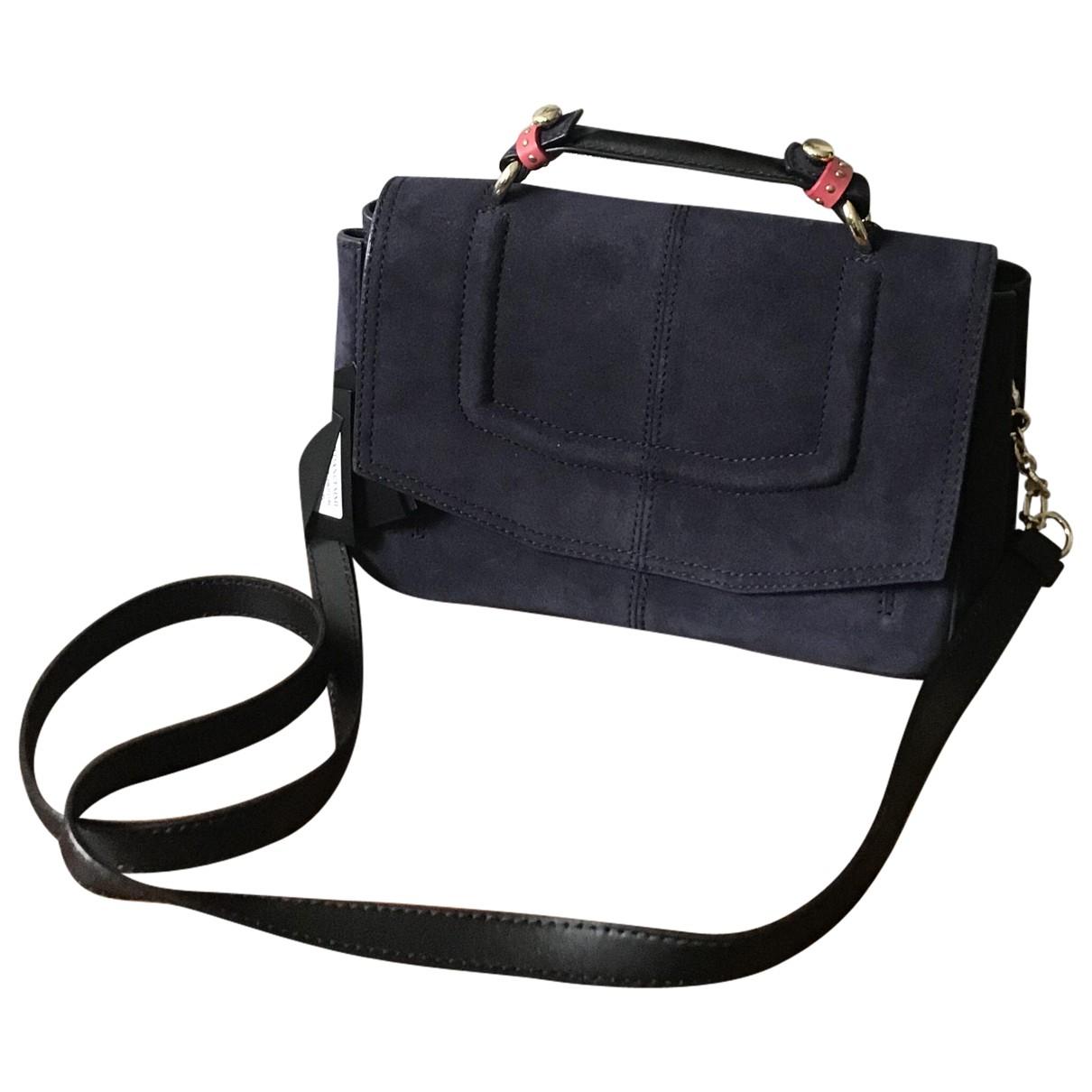 Maje Fall Winter 2019 Navy Suede handbag for Women \N