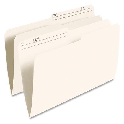 Pendaflex@ Reversible File Folders - Legal. 10-1/2-pt. Ivory. 10% post-consumer fibre.
