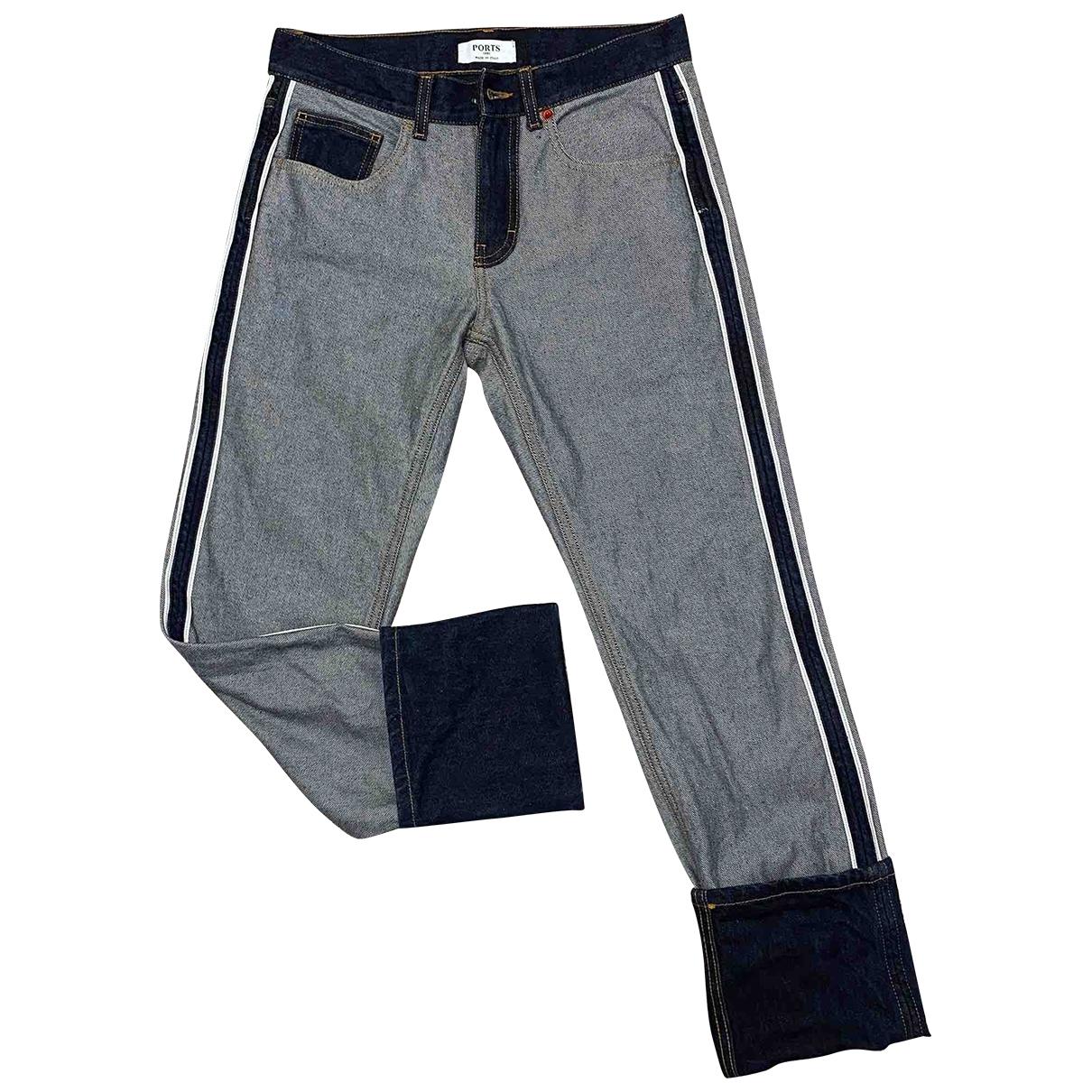 Ports 1961 \N Blue Cotton Jeans for Men 29 US