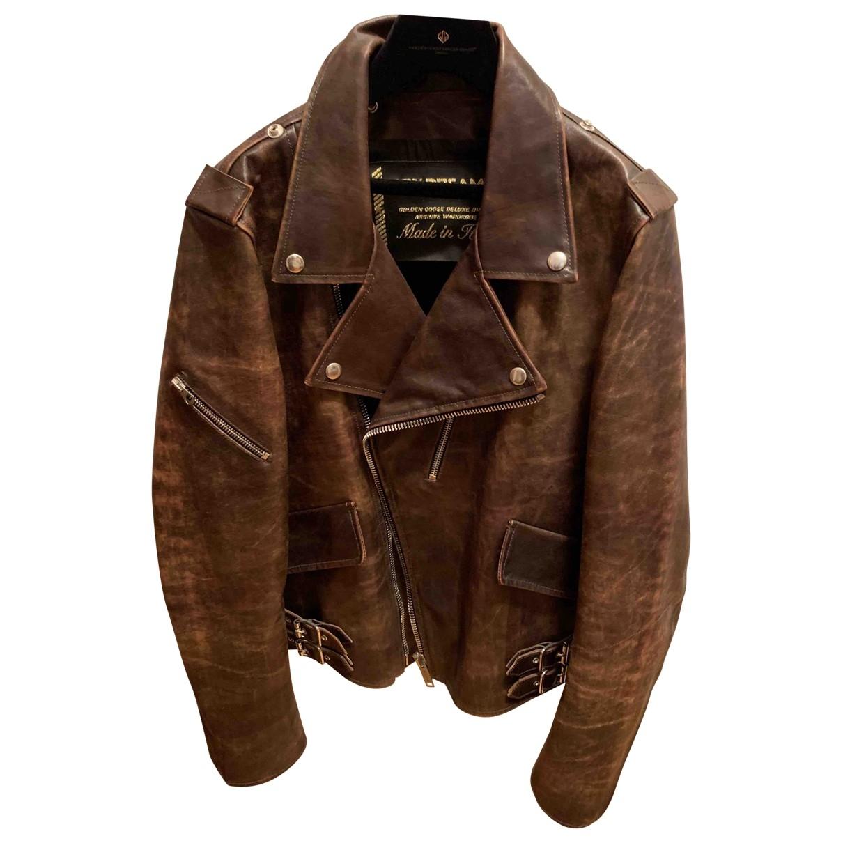 Golden Goose \N Brown Leather jacket  for Men S International