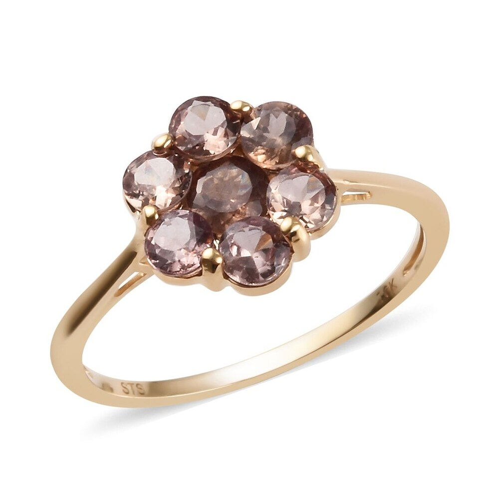 Yellow Gold AA Change Color Garnet Ring Engagement Ct 2.45 (Ring 6)