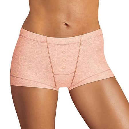 Maidenform Dream Cotton Knit Boyshort Panty Dm0002, 7 , Pink