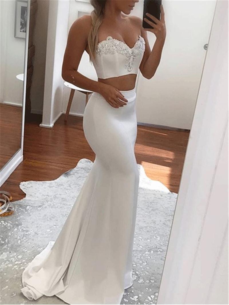 Ericdress Sweetheart Applique Mermaid Evening Dress