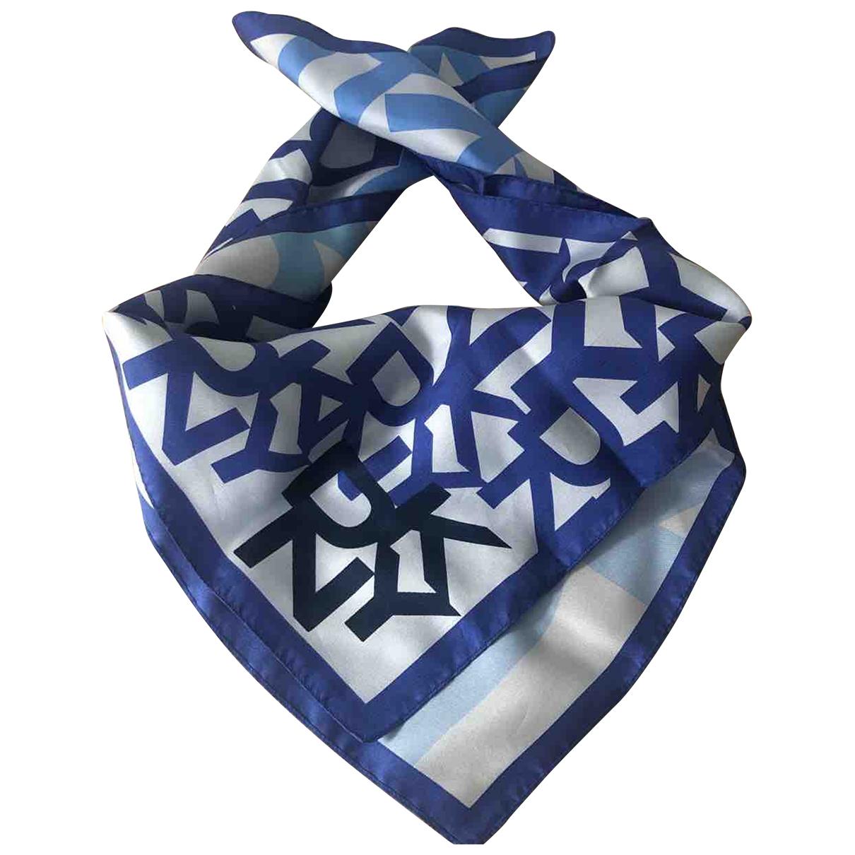 Dkny \N Blue Silk scarf for Women \N