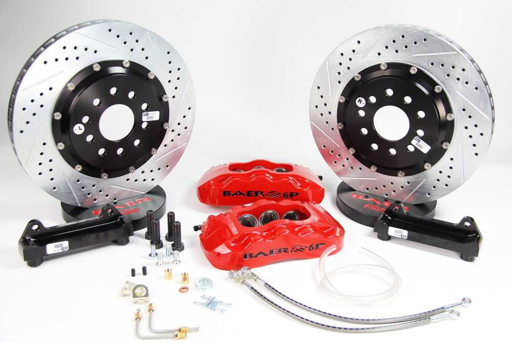 Baer Brakes Brake System 14 Inch Front Extreme+ Red 93-02 GM F Body 98-02 OE Spindle Not Included