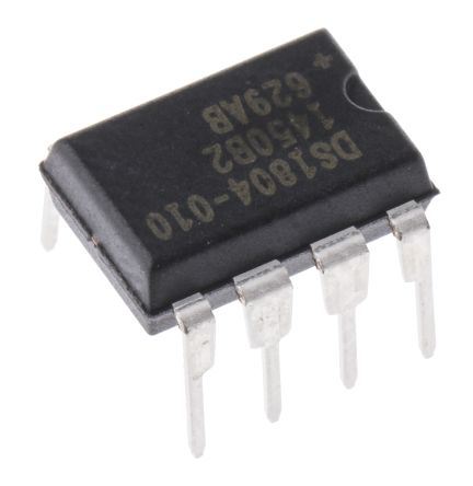 Maxim Integrated DS1804-010+, Digital Potentiometer 10kΩ 100-Position Linear Increment 8 Pin, PDIP (50)