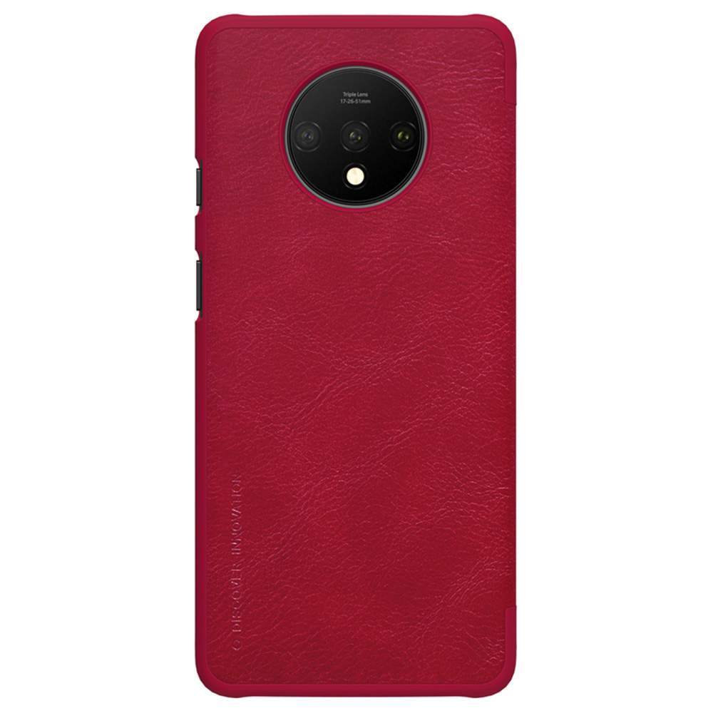 NILLKIN Protective Leather Phone Case For Oneplus 7T Smartphone - Red