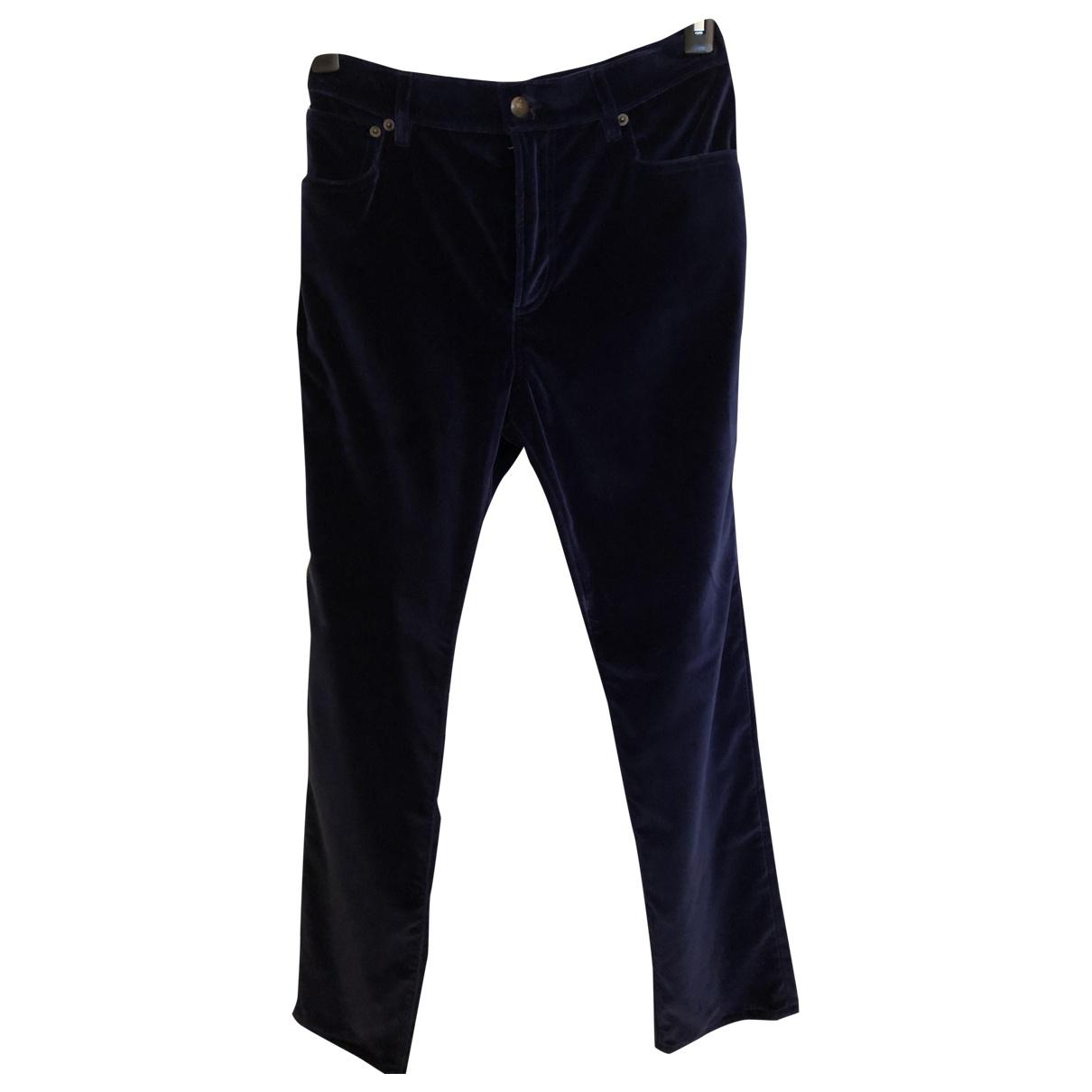 Ralph Lauren Collection \N Blue Velvet Trousers for Women 8 US