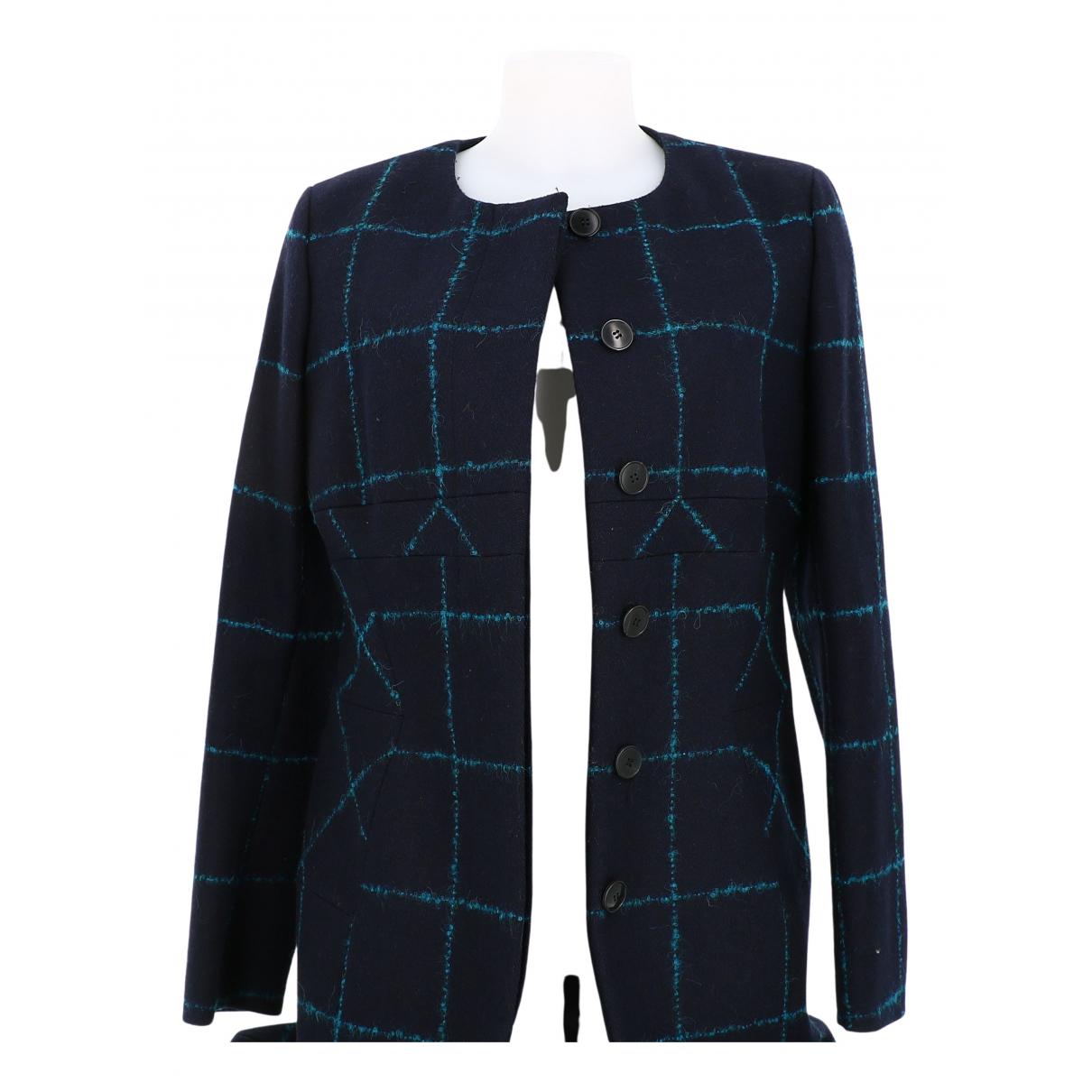 Dior \N Blue Wool coat for Women 40 FR