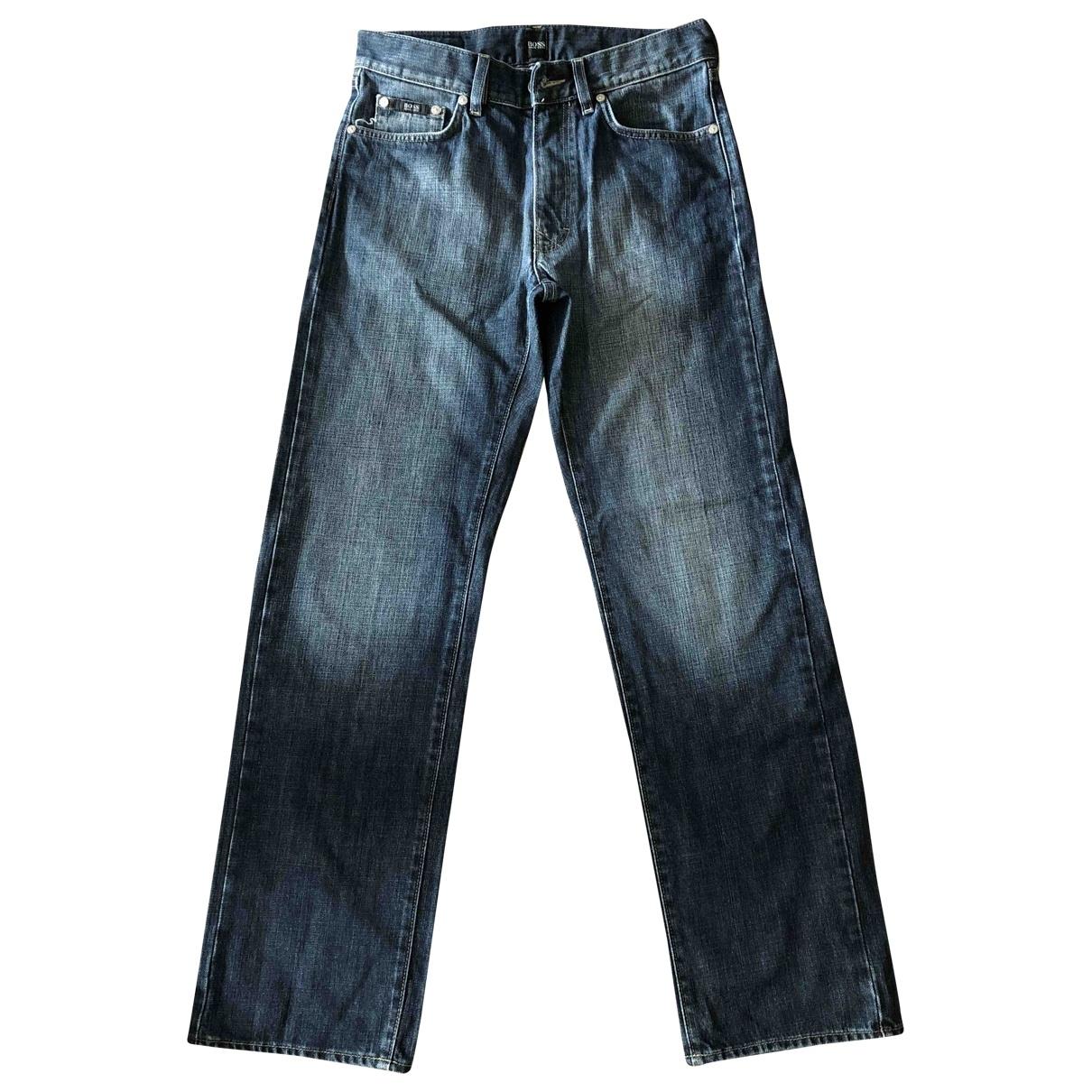 Boss \N Navy Cotton Jeans for Men 30 US