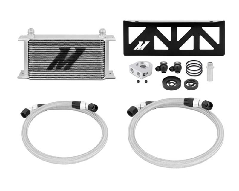Mishimoto MMOC-BRZ-13T Silver Thermostatic Oil Cooler Kit Subaru BRZ 2.0L 13-14