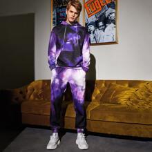 Men Tie Dye Hoodie & Sweatpants Set