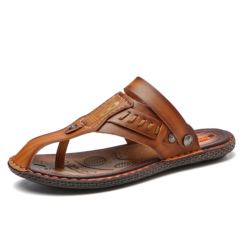 Ericdress Sewing Slip-On Thong Men's Sandals