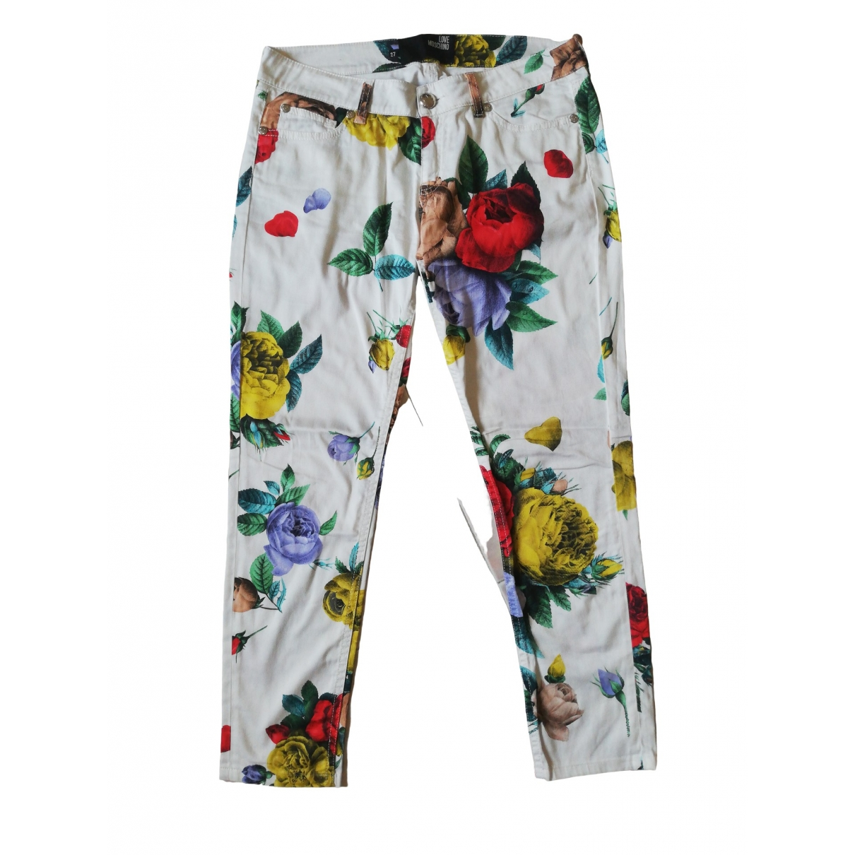 Moschino Love \N Multicolour Cotton Trousers for Women One Size UK