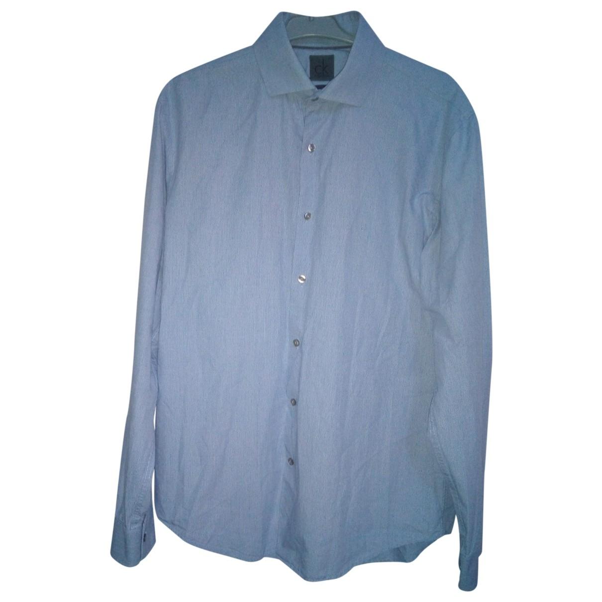 Calvin Klein \N Blue Shirts for Men 39 EU (tour de cou / collar)