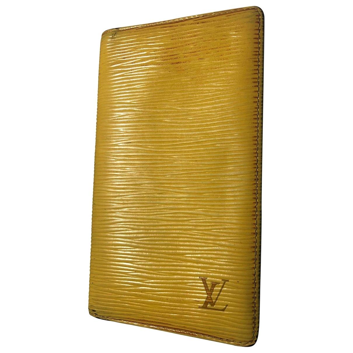 Louis Vuitton Couverture agenda de bureau Yellow Leather Home decor for Life & Living \N