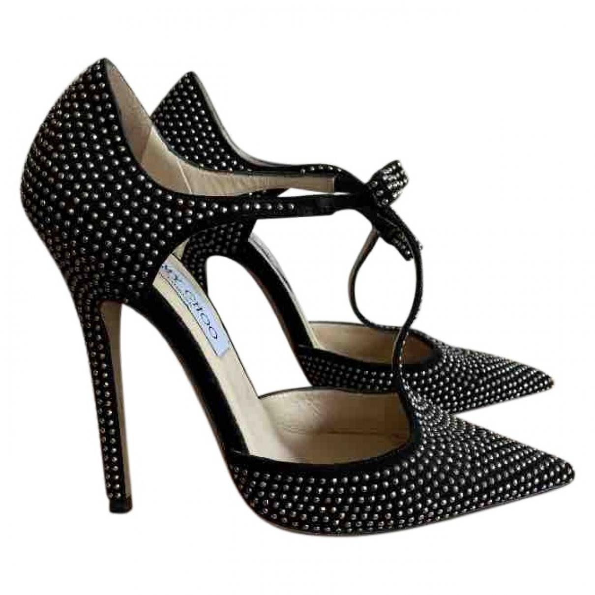Jimmy Choo \N Black Suede Heels for Women 36 EU