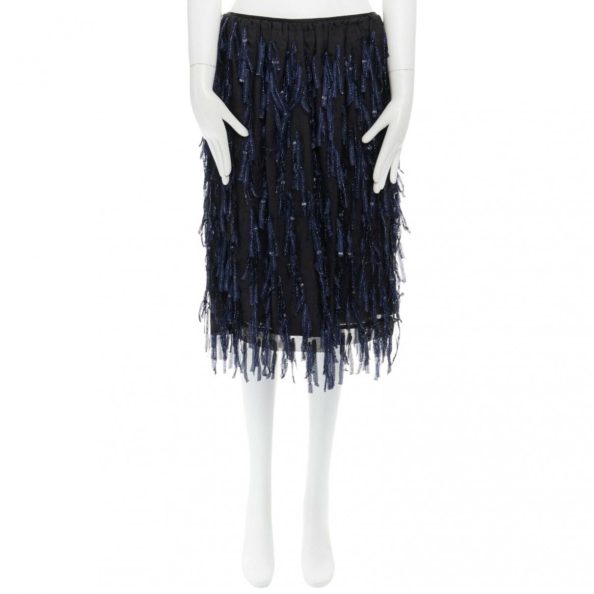 Dries Van Noten \N Navy Silk skirt for Women 38 FR