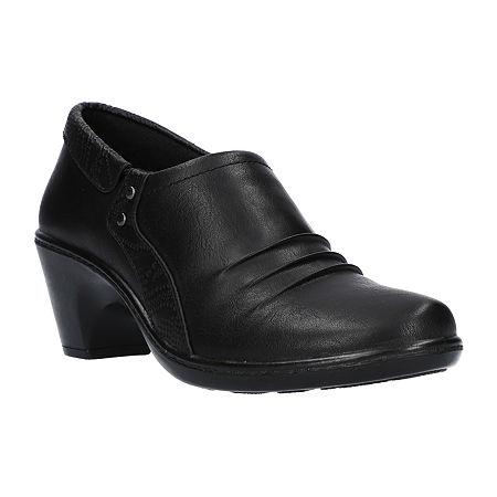Easy Street Womens Toya Clogs Narrow Width, 7 Medium, Black
