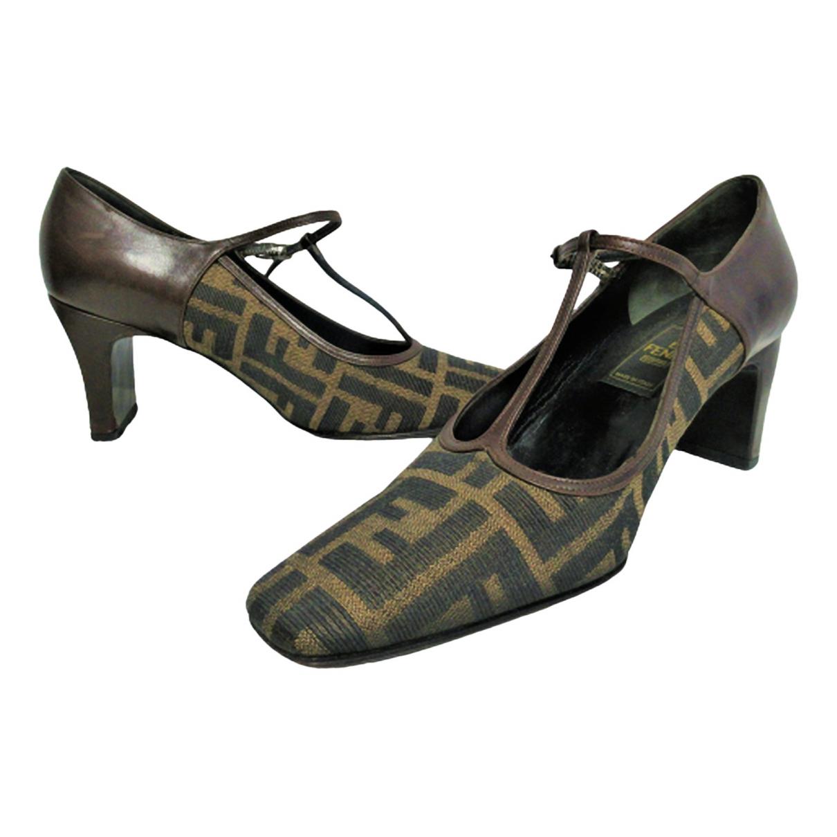 Fendi \N Brown Cloth Heels for Women 37 IT