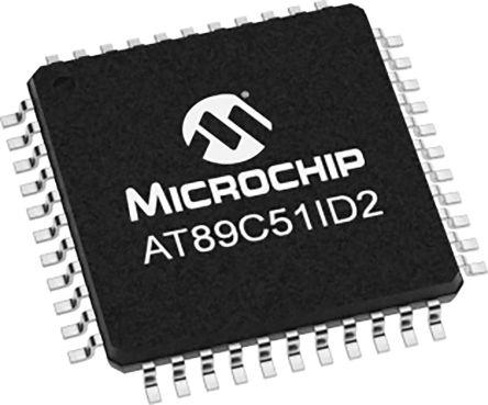Microchip AT89C51ID2-RLTUM, 8bit Microcontroller, AT89C51, 40MHz, 64 kB Flash, 44-Pin VQFP (160)