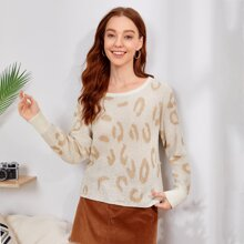 All Over Pattern Knit Sweater