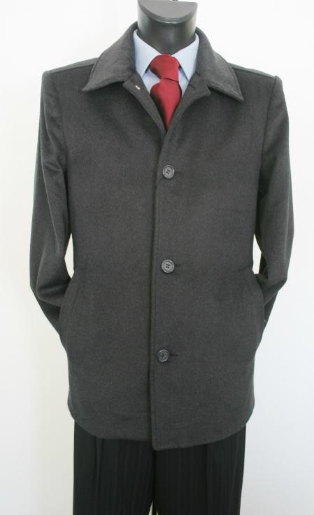 Car Coat Style Charcoal