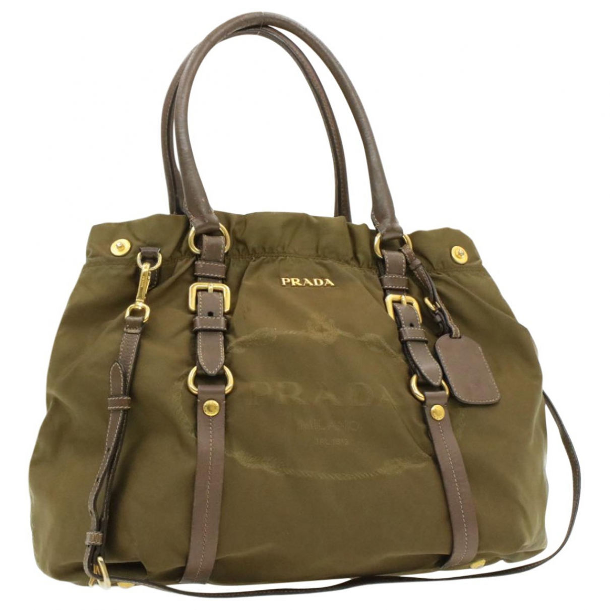 Prada \N Khaki Cloth handbag for Women \N
