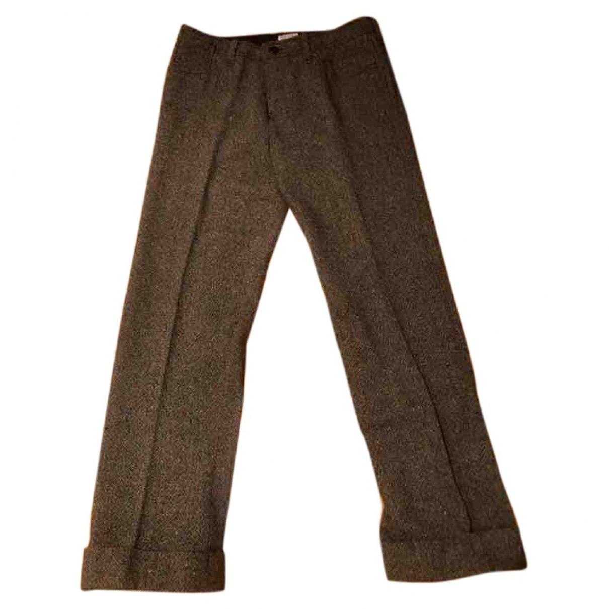 Polo Ralph Lauren \N Brown Wool Trousers for Women 32 FR