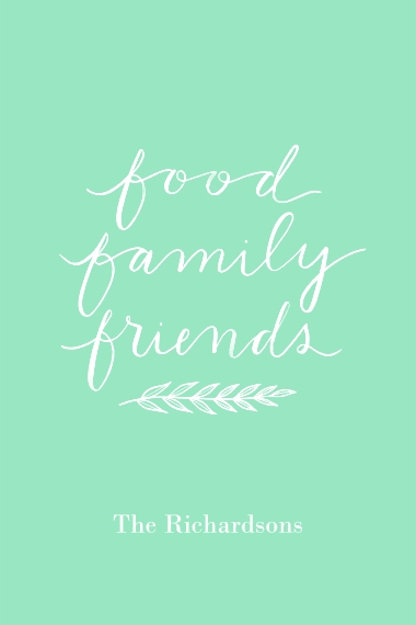 Non-Photo 12x18 Adhesive Poster, Home Décor -Food Family Friends