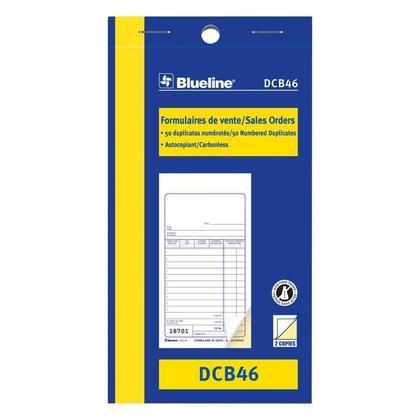 Commandes Blueline@ vente Carbonless Copy - duplicate,3-1/2 x 6-1/2
