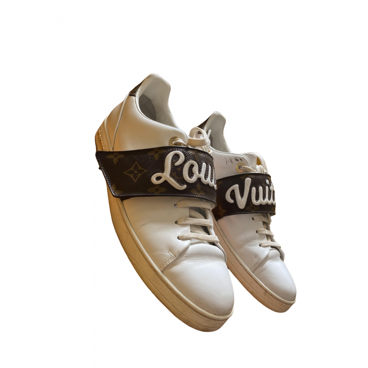 Louis Vuitton FrontRow White Leather Trainers for Women 40.5 EU