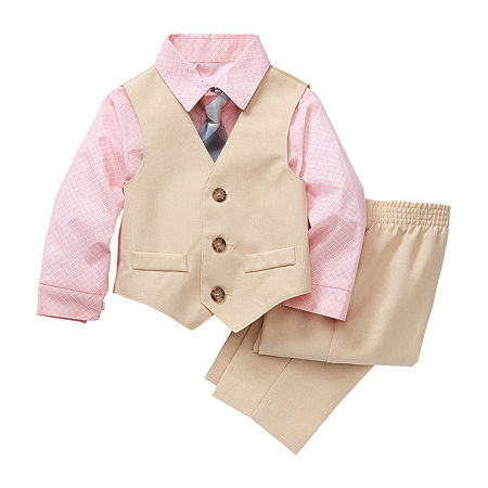 Van Heusen Baby Boys 4-pc. Suit Set, 18 Months , Beige