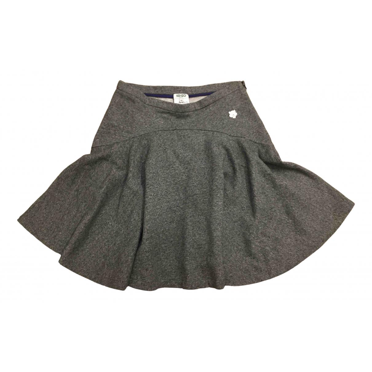 Kenzo \N Grey Cotton skirt for Women 38 FR