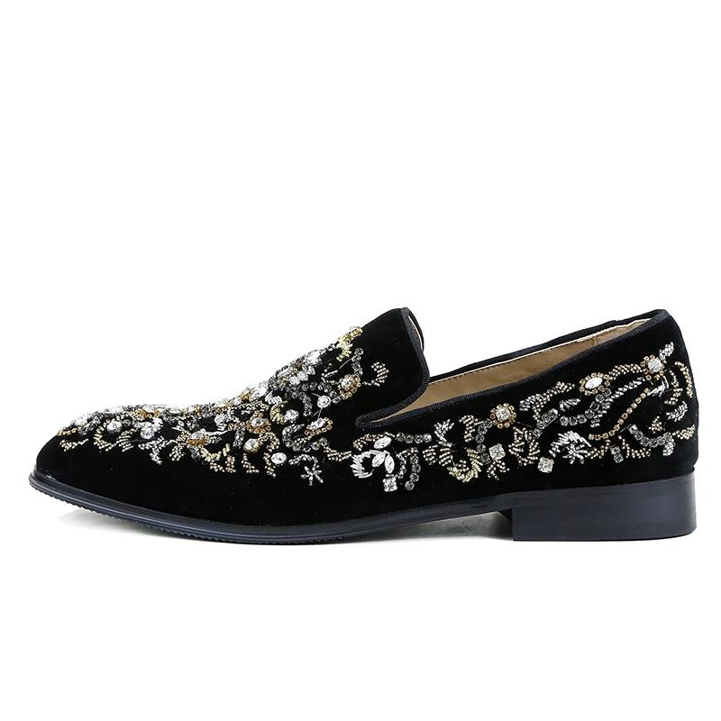 Ericdress Rhinestone Round Toe Slip-On Men's Casual Shoes