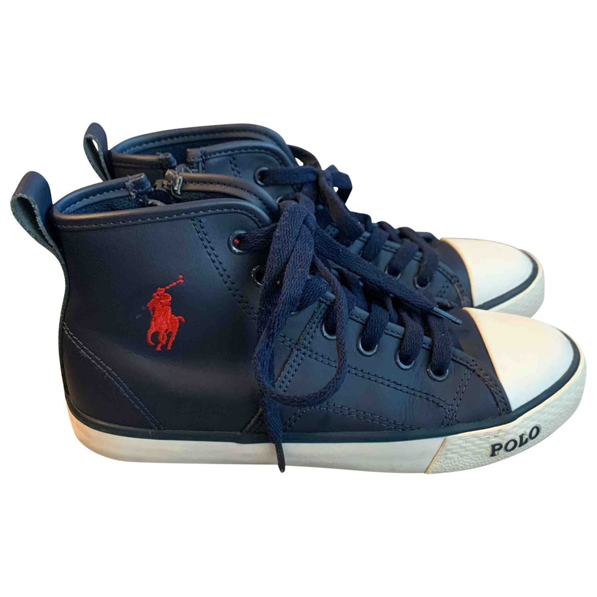 Polo Ralph Lauren \N Blue Leather Trainers for Kids 31 EU