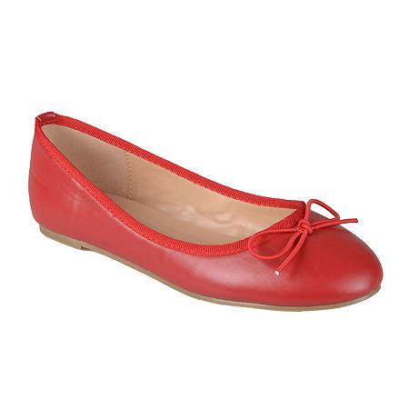Journee Collection Womens Vika Ballet Flats, 8 Medium, Red