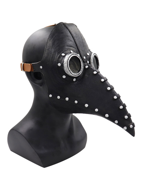Milanoo Plague Doctor Bird Mask Long Nose Beak Cosplay Steampunk Halloween Costume Props