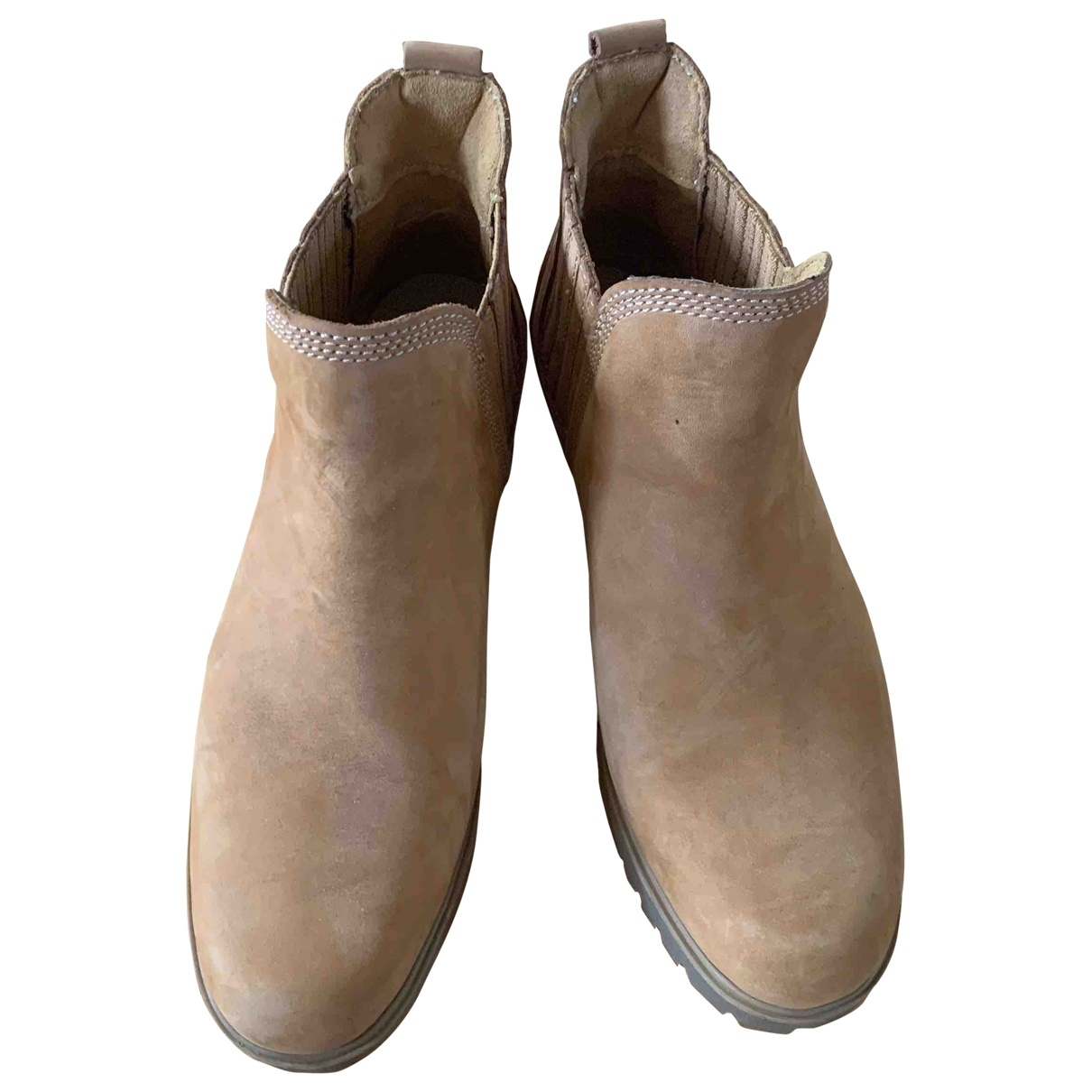 Timberland \N Camel Leather Ankle boots for Women 39 EU