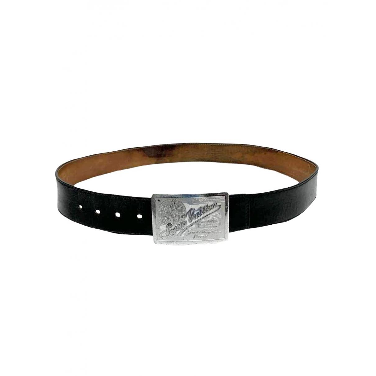 Louis Vuitton \N Black Leather belt for Men 95 cm