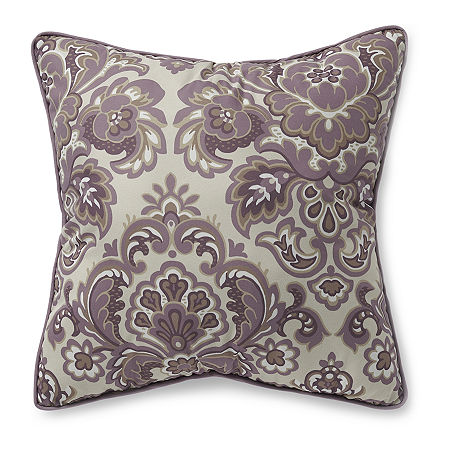 Home Expressions Hayden Square Throw Pillow, One Size , Purple