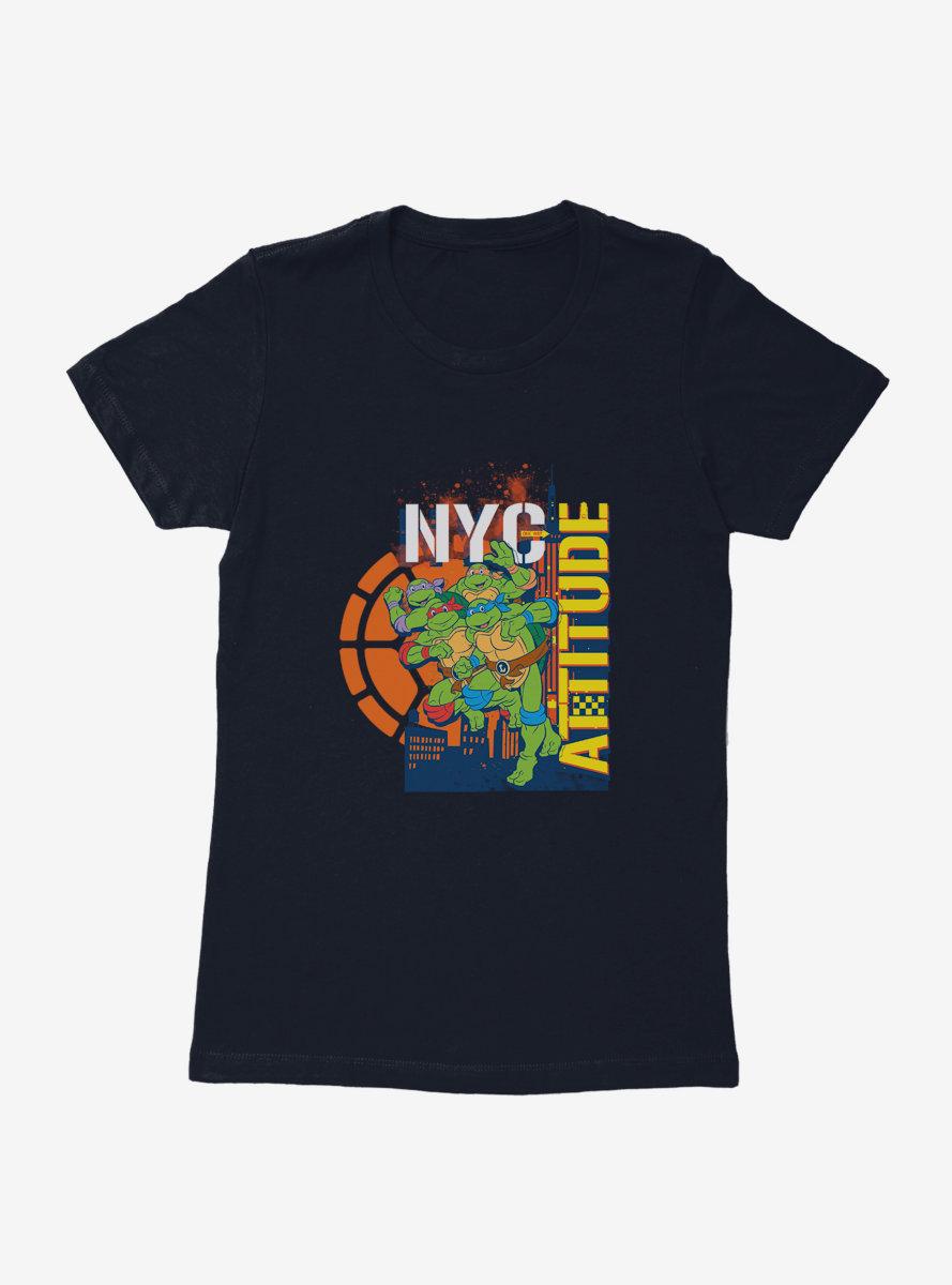 Teenage Mutant Ninja Turtles New York Attitude Womens T-Shirt