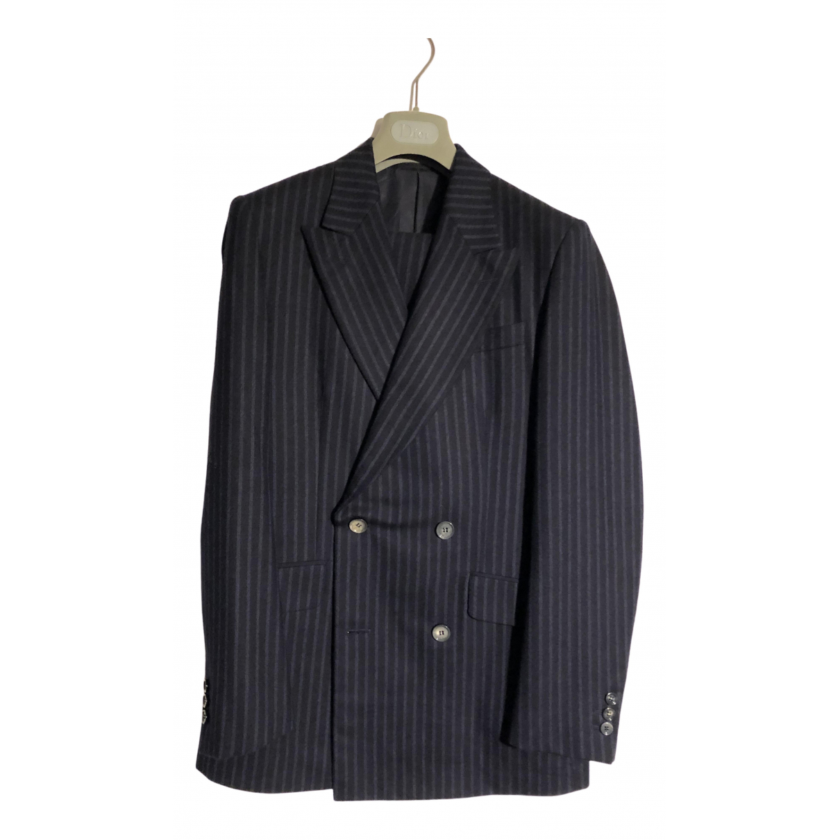 Alexander Mcqueen \N Navy Wool Suits for Men 46 IT
