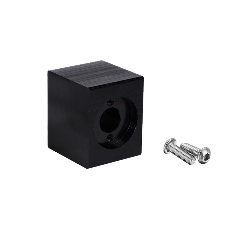Black Aluminum Alloy T8 Nut Housing Bracket with 2Pcs Screws for 3D Pritner Lead Screw