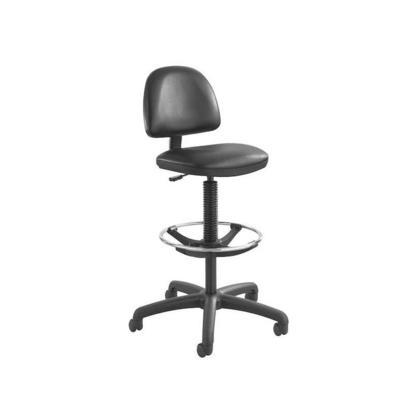SAFCO® Chaise à hauteur prolongée avec repose-pieds, noir