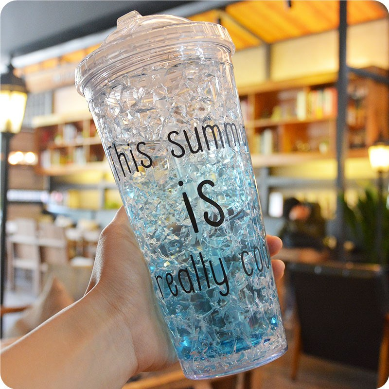 Ericdress 450ml Colorful Letter Water Cup