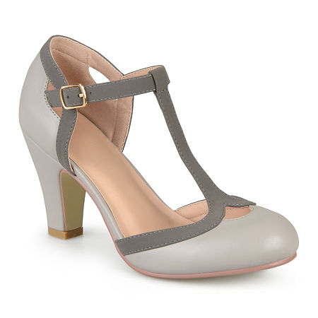 Journee Collection Womens Olina Pumps, 8 Medium, Gray