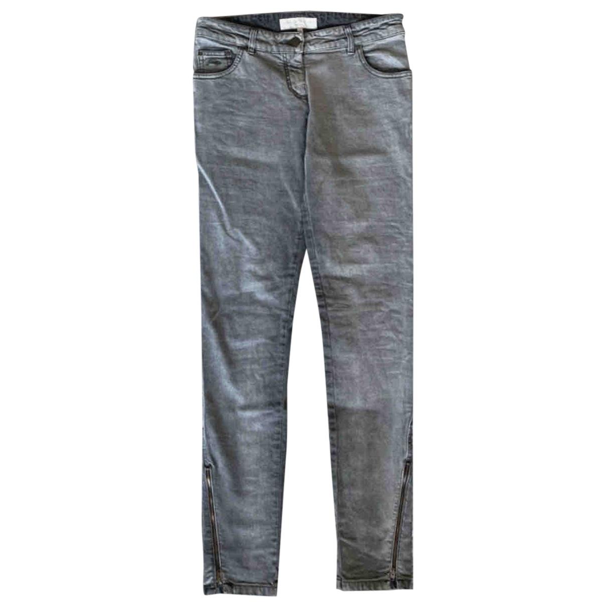 Stella Mccartney \N Grey Cotton - elasthane Jeans for Women 36 FR