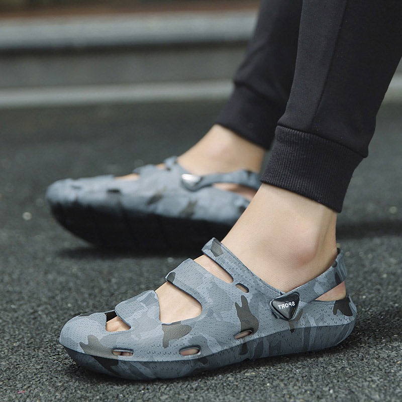 Ericdress PVC Camouflage Slip-On Round Toe Men's Sandals