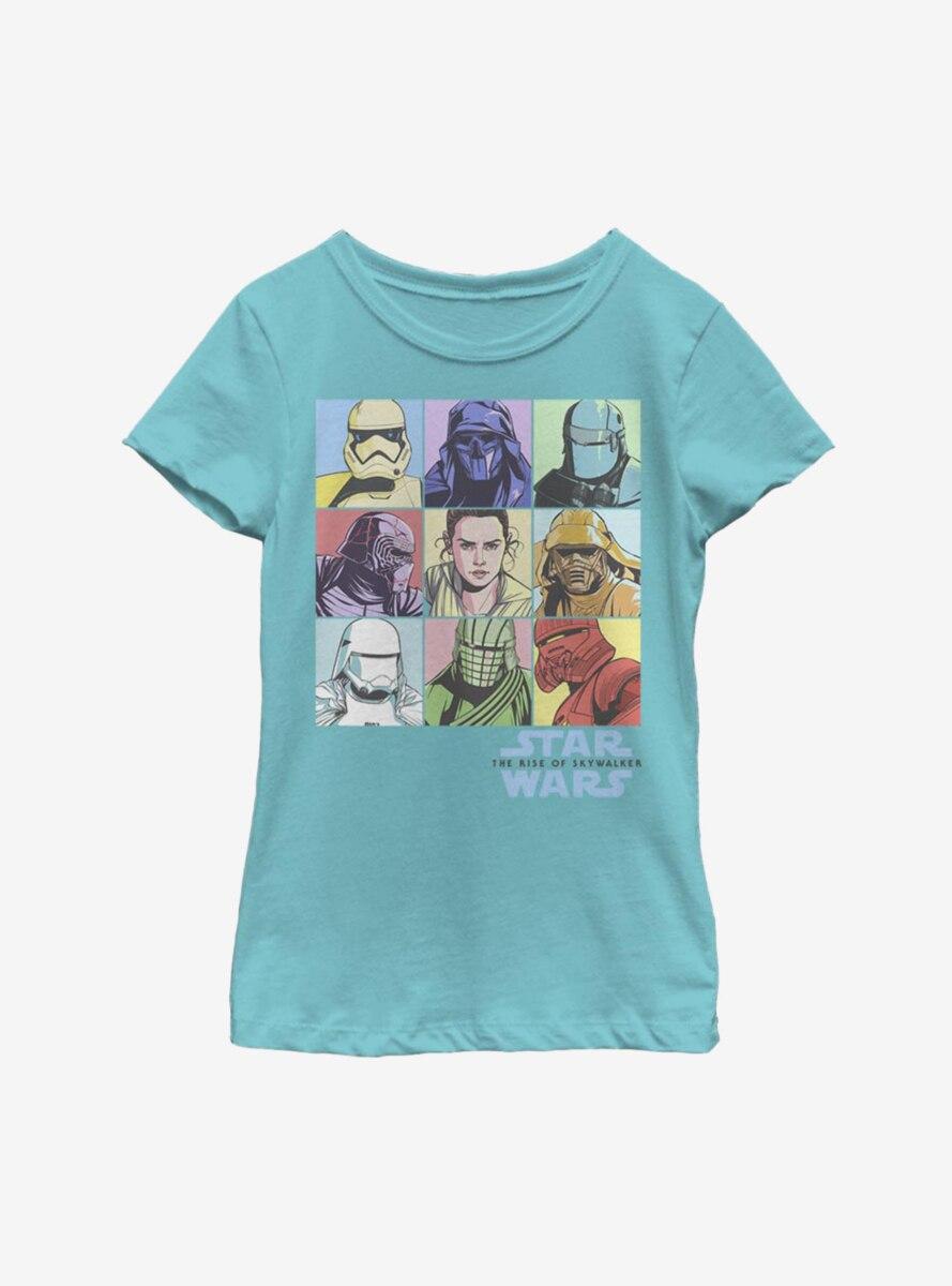 Star Wars Episode IX The Rise Of Skywalker Pastel Rey Boxes Youth Girls T-Shirt